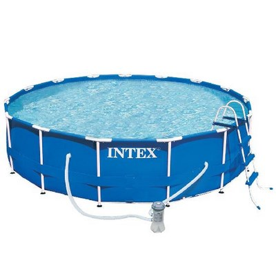 Бассейн каркасный  Intex размер 366х99см Family Size Metal Frame Pool Set